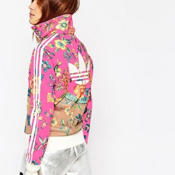 796b33d0db0 adidas Jackets & Blazers - ADIDAS | Originals Floral Zip up Track Jacket